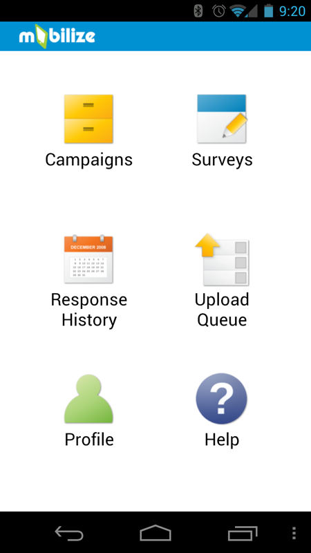 Mobile Application Interface